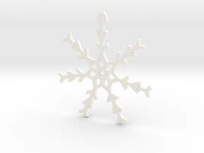 Young Snowflake Ornament in White Strong & Flexible Polished