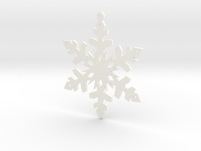 Paper Snowflake Ornament in White Processed Versatile Plastic