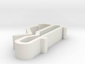 Blind Valance Clip 67 in White Natural Versatile Plastic