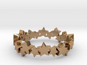Stellar Ring in Polished Brass: 4 / 46.5