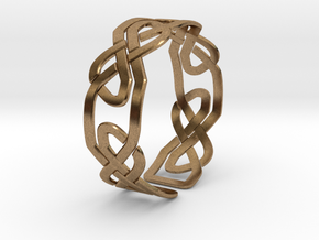 Celtic Knot Bracelet in Natural Brass: Extra Small
