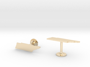 Tennessee State Cufflinks in 14k Gold Plated Brass