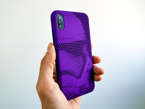 iPhone X case_Stormtrooper Force Awakens in Purple Strong & Flexible Polished