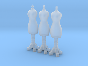 Female mannequin 01. 1:144 Scale  in Smooth Fine Detail Plastic