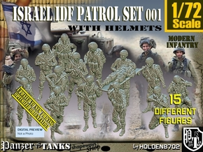 1/72 IDF Infantry Set001 in Smooth Fine Detail Plastic