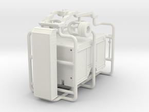 1/87 Medium Duty Rescue body w/ roof storage bin in White Natural Versatile Plastic