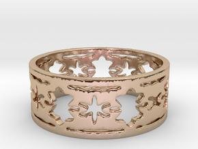 Door Knocker 6 Ring Size 6 in 14k Rose Gold