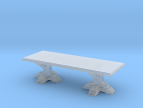 Medieval Italian feast table scaled for 1:48 (#2) in Smooth Fine Detail Plastic