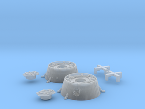 Bandai Falcon Docking Rings 1/144 #2, Pushbuttons in Smooth Fine Detail Plastic