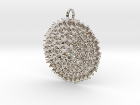 Fractal Bouquet Pendant in Rhodium Plated Brass