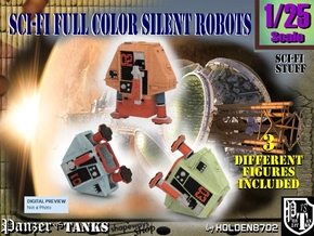 1-25 Full Color Three Silent Robots in Full Color Sandstone
