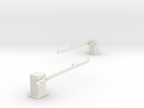 SPX UK level crossing barriers (AHB) 00,H0 in White Strong & Flexible