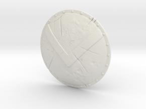 Shield05-Targe-Spartan  6-7inch MOTU in White Premium Versatile Plastic