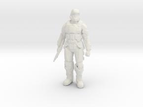 UNSC Orbital Drop Shock Trooper ODST HALO in White Natural Versatile Plastic