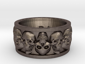 Faced Skullring (Size 10) in Stainless Steel