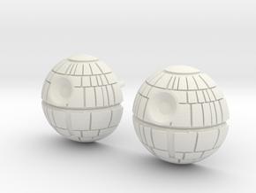 Death Star Studs in White Premium Versatile Plastic