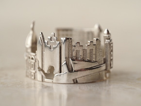 Atlanta Cityscape - Skyline Statement Ring in Polished Silver