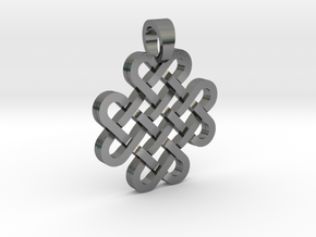 Knot [pendant] in Polished Silver