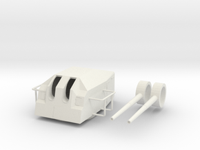 1/50 DKM 15cm TK C-36 1936A mob twin turret in White Natural Versatile Plastic