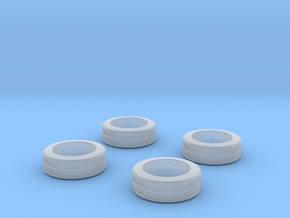 "1/87 Car tyres ""SUV"" - wheels with profile in Smooth Fine Detail Plastic"