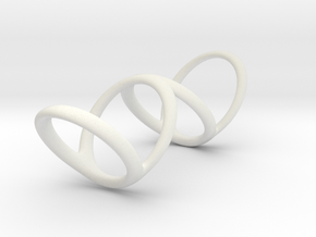 Ring for Bob L1 1 1-4 L2 1 3-4 D1 6 1-2 D2 9 1-4 D in White Natural Versatile Plastic