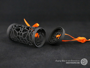 Filigree Gift roll small with Mosaic-3 (6 cm) in Black Natural Versatile Plastic