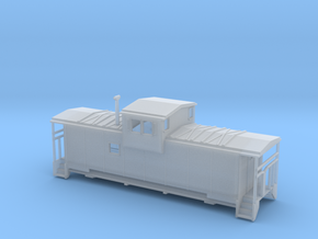 SantaFe Modern Caboose - Zscale in Smooth Fine Detail Plastic