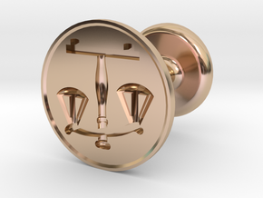 Scales of Justice Seal in 14k Rose Gold Plated Brass
