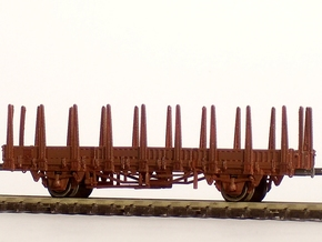 2101 1/160 Fährboot-Rungenwagen Rbmms 55 der DB in Frosted Ultra Detail