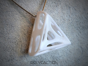 Nest ::: Triangle Pendant ::: v.01 in White Natural Versatile Plastic