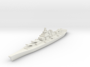 USS montana 1/1800 in White Natural Versatile Plastic