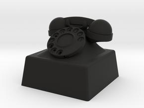 telephone cherry MX keycap in Black Natural Versatile Plastic