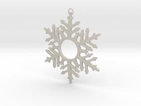 Snowflake Celebration in Natural Sandstone