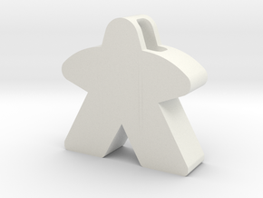 Meeple Pendant in White Premium Strong & Flexible