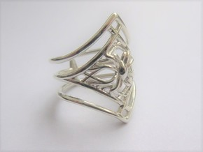 Growth & Harmony ring in Polished Silver