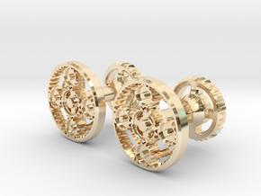 Gearcog cufflinks in 14k Gold Plated Brass