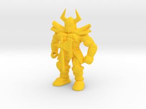 Death Adder BIG keshi. Golden Axe fan figure.  in Yellow Processed Versatile Plastic