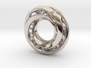 Mobius Pair in Rhodium Plated Brass
