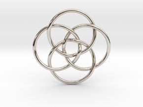 Quadruple Vesica Piscis in Platinum