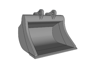 HO - Bucket XL for 20-25t excavators in Smooth Fine Detail Plastic
