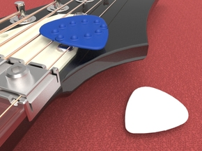 Dimple Guitar Pick - Oval Shape in Black Strong & Flexible