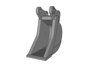 HO - Bucket Narrow for 15-20t excavators in Frosted Ultra Detail