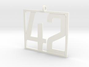 42 Pendant in White Processed Versatile Plastic
