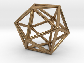 Icosahedron in Natural Brass
