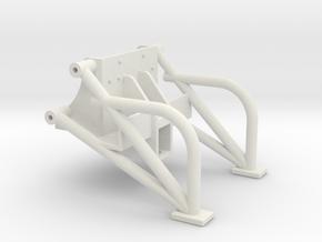 John Deere Rear Hitch and Wheelie Bars in White Natural Versatile Plastic