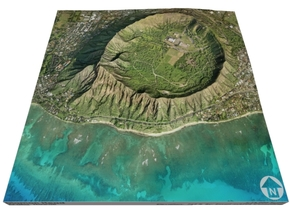 "Diamond Head, Hawaii: 6""x6"" in Full Color Sandstone"