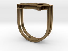 Bitcoin Ring 18 in Polished Bronze