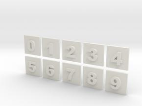 letters logo peaces quad 0-9 in White Natural Versatile Plastic