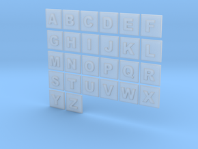 latin alphabet letters puzzle pieces in Smooth Fine Detail Plastic