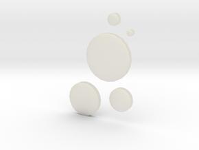 circles 2.5 - 20 cm in Transparent Acrylic